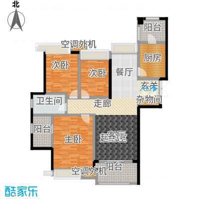 白塘壹号125.00㎡C户型3室2厅2卫