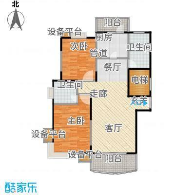 北桥春天100.00㎡房型: 二房; 面积段: 100 -110 平方米; 户型