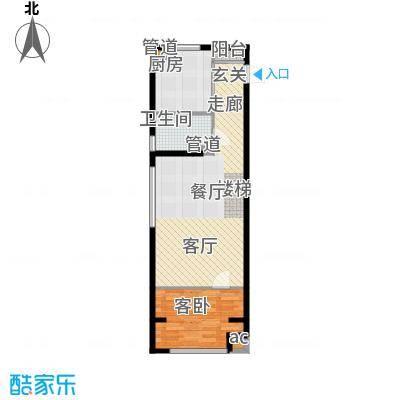 阳光100城市丽园阳光100U空间户型图户型3室1厅1卫