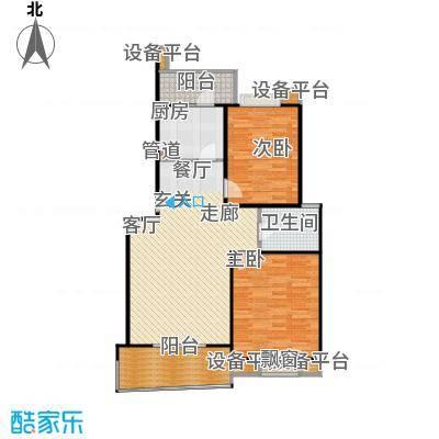 北桥春天90.00㎡房型: 二房; 面积段: 90 -100 平方米; 户型