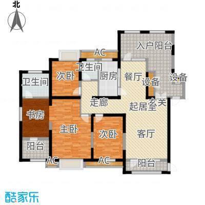 金地长青湾174.00㎡20号楼户型3室2厅2卫QQ