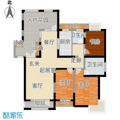 金地长青湾141.00㎡20号楼户型3室2厅2卫QQ