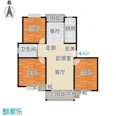 春江锦庐房型: 三房; 面积段: 116 -116 平方米; 户型