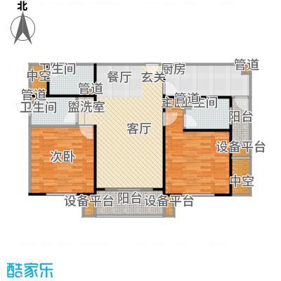 上海康城房型: 二房; 面积段: 100 -110 平方米; 户型