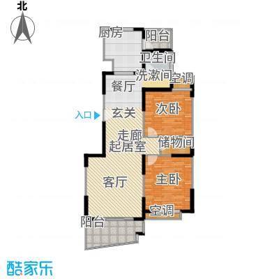 鸿发家园二期房型户型2室1卫1厨