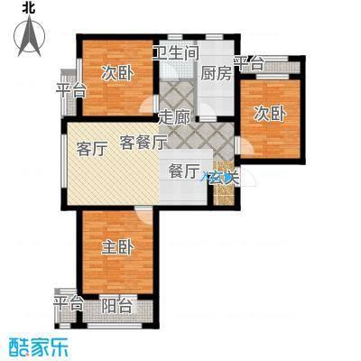 紫林湾115.38㎡三室两厅一厨一卫 总建筑面积约115.38平米户型3室2厅1卫