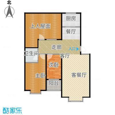徐水富郦城108.00㎡F1户型2室2厅1卫