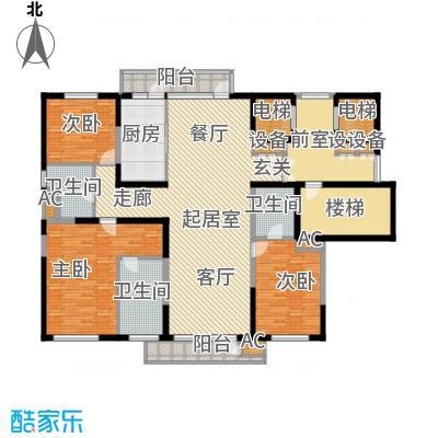 金地长青湾200.00㎡高层户型3室2厅3卫