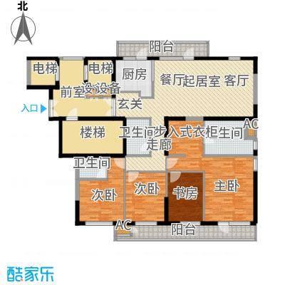 金地长青湾185.00㎡高层户型3室2厅3卫