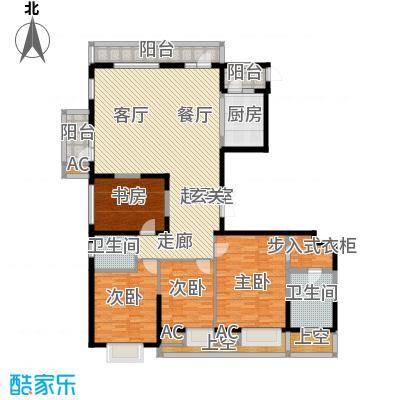 金地长青湾197.00㎡H8标准层户型4室2厅2卫