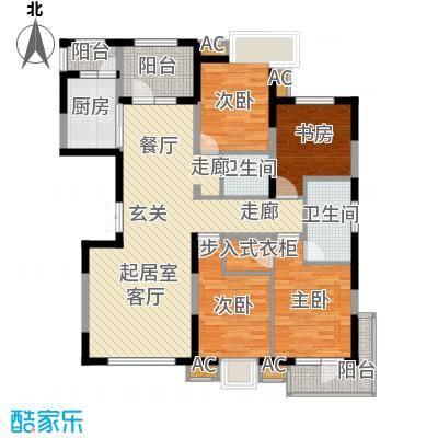 金地长青湾199.00㎡H8一层户型4室2厅2卫