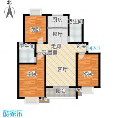 天然城Ⅲ境界户型3室2卫1厨
