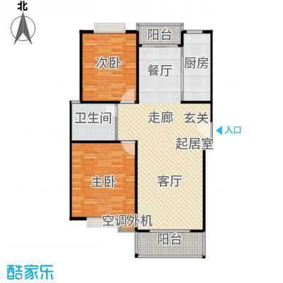 春江锦庐房型: 二房; 面积段: 98 -100 平方米; 户型