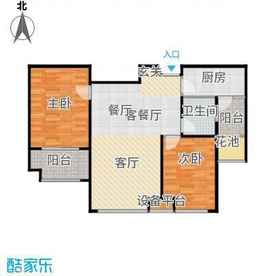 唐正・四季花园88.45㎡F1户型2室2厅1卫