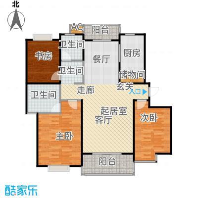南洋博仕欣居111.00㎡房型: 三房; 面积段: 111 -134 平方米;户型