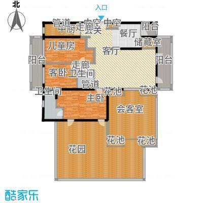 三亚远洋公馆202.00㎡E户型3室2厅2卫
