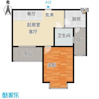 南洋博仕欣居65.00㎡房型: 一房; 面积段: 65 -65 平方米;户型