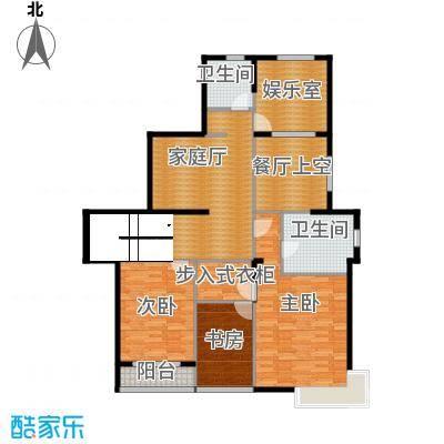 靓都公馆136.80㎡128#(B)上层户型3室2卫