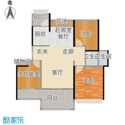 中铁子悦薹89.23㎡A户型两室两厅+多功能房户型3室2厅1卫