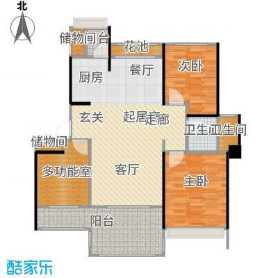 中铁子悦薹89.23㎡A户型两室两厅户型2室2厅1卫