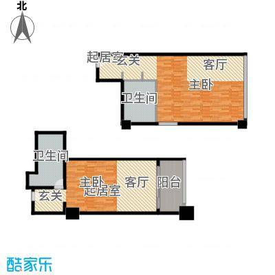三亚国际公寓68.16㎡一室一厅一卫户型