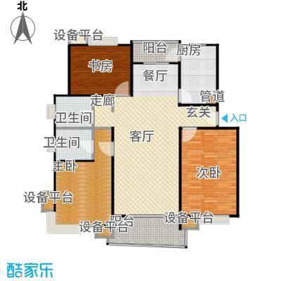 北桥春天120.00㎡房型: 三房; 面积段: 120 -130 平方米; 户型