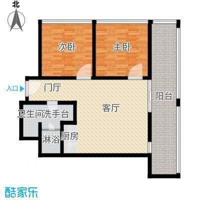 三亚湾红树林度假世界110.00㎡3号楼棕榈酒店B房型户型2室1厅1卫