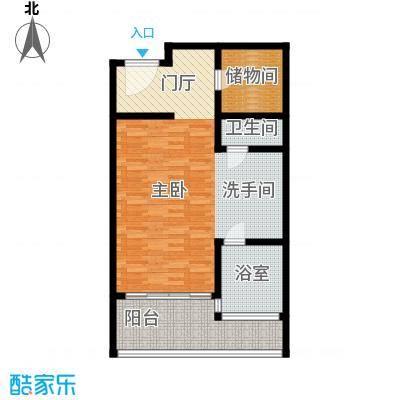 三亚湾红树林度假世界79.22㎡6号楼 一室一卫户型1室1卫