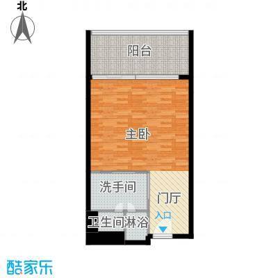 三亚湾红树林度假世界68.20㎡6号楼 一室一卫户型1室1卫