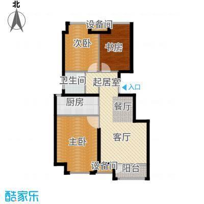 荣盛香缇澜山87.33㎡多层D12-A户型 三室两厅一卫户型3室2厅1卫