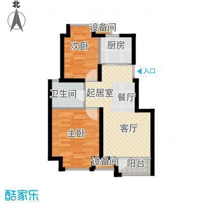 荣盛香缇澜山75.07㎡多层D13-A户型 两室两厅一卫户型2室2厅1卫