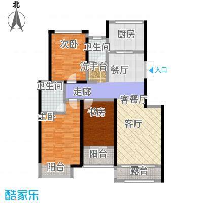 豪门府邸132.90㎡10号楼1单元602、10号楼2单元601户型3室2厅2卫