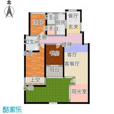 豪门府邸148.87㎡8号楼(148.87+37.79)户型3室2厅2卫