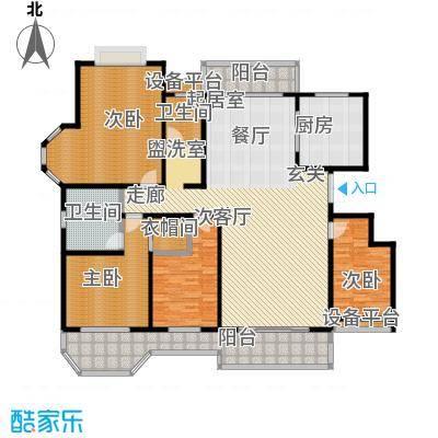 绅派金湖帝景204.00㎡四室两厅两卫户型