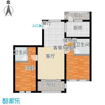 绿地大溪地113.84㎡C3-3户型2室2厅2卫