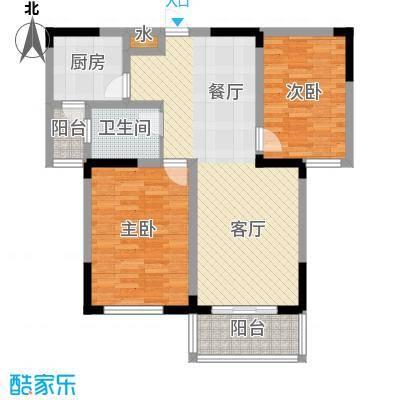 北环阳光花园91.00㎡F3户型2室2厅1卫