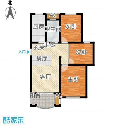 建业森林半岛户型3室1卫1厨