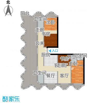美丽之冠七星酒店183.10㎡E户型树源户型3室2厅3卫