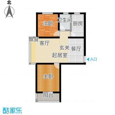 龙鼎天悦94.79㎡F2室2厅1卫94.79平方米户型2室2厅1卫