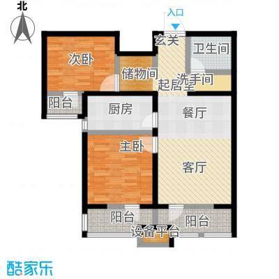 龙鼎天悦91.47㎡E2室2厅1卫91.47平方米户型2室2厅1卫