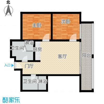 三亚湾红树林度假世界110.00㎡3号楼棕榈酒店C房型户型2室1厅2卫