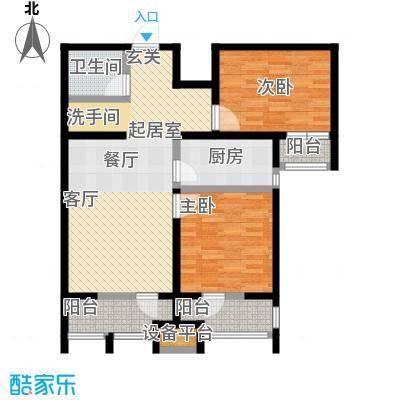 龙鼎天悦91.16㎡D2室2厅1卫91.16平方米户型2室2厅1卫
