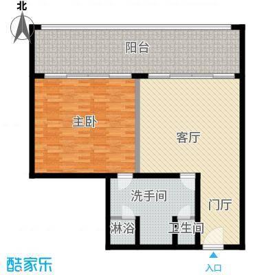 三亚湾红树林度假世界109.00㎡6号楼 一室一厅一卫户型1室1厅1卫