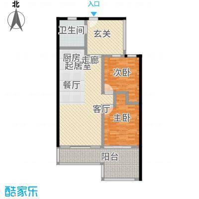 金祥・万卷山87.24㎡C1户型2室2厅1卫