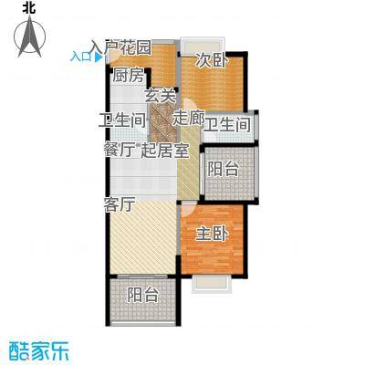 金祥・万卷山104.99㎡C3户型3室2厅2卫