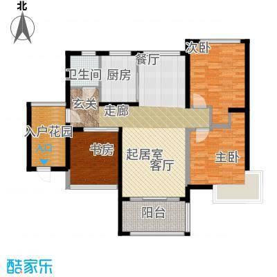 金祥・万卷山102.79㎡G2户型3室2厅2卫