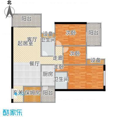 建发・天府鹭洲103.00㎡I-2产权面积103平米实得146平米户型
