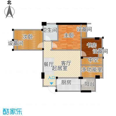 美洲花园E区2期88.71㎡户型2室2厅1卫