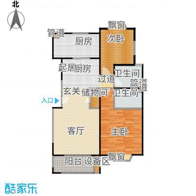 公园养生豪庭112.17-113平方米二房户型
