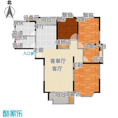 公园养生豪庭133-134平方米三房户型
